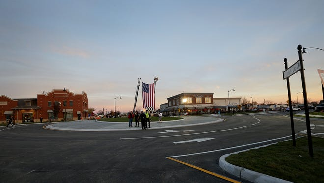 Carmel celebrated the opening of its 100th roundabout at the intersection of Carmel Drive & Range Line Road on Nov. 17, 2006.