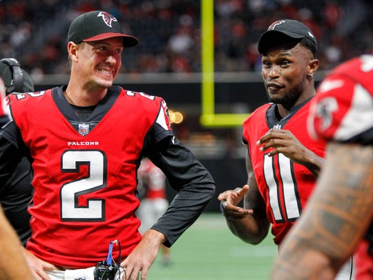 Matt Ryan (2) and Julio Jones are as dangerous a tandem as there is in the NFL.
