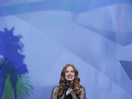 Jessica Chastain is presented the Chairman's Award