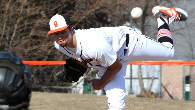 Brighton's Alexx Zielinski struck out 11 in six innings during the Bulldogs' 6-0 win in the opener.