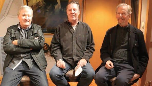 Bart Herbison, center, talks with songwriters Mac Gayden,