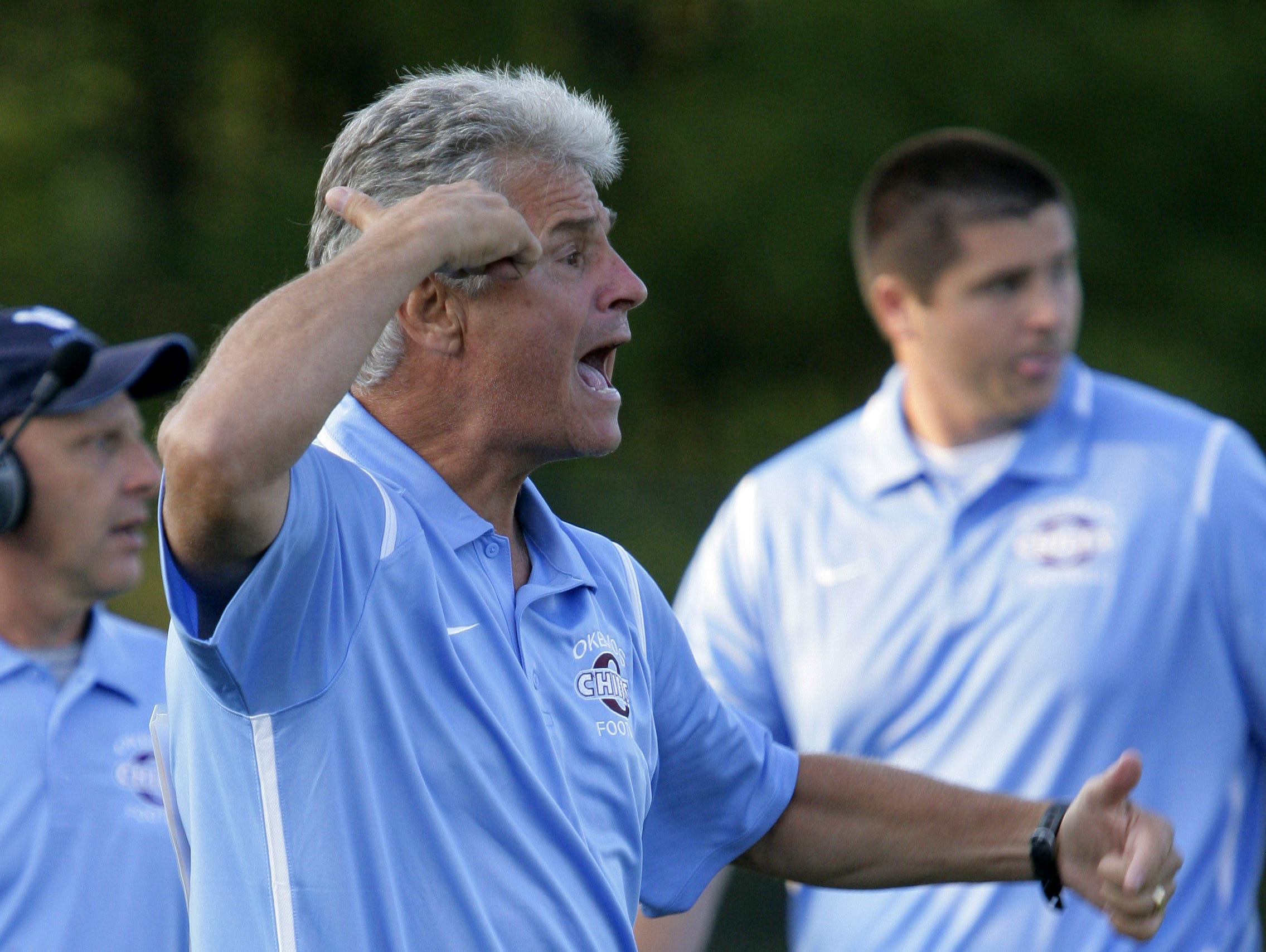 Jack Wallace picked up the 200th win of his coaching career in Okemos' victory over Eastern on Friday.