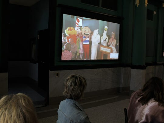 A video was shown at Thursday's Arts Rally at The Grace