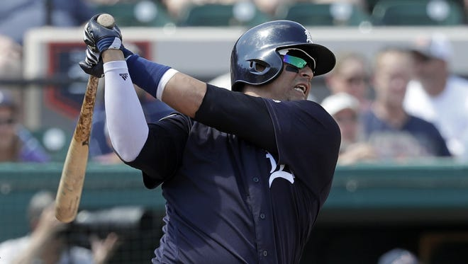 Victor Martinez's Grapefruit League numbers look like something from a switch-hitter's prime: .281 batting average, and a heavy 1.011 OPS.