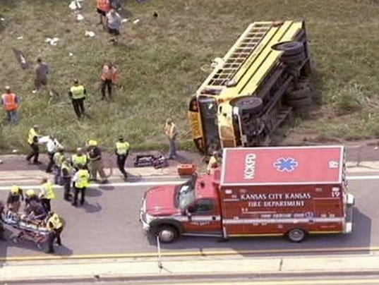 AP School Bus Accident Kansas