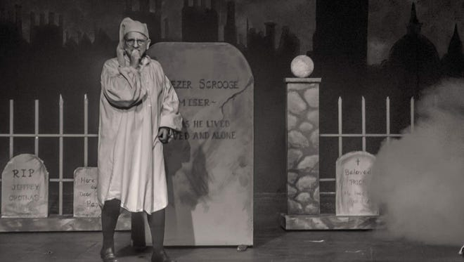 Ben Lovell plays Ebenezer Scrooge in the Wilmington Drama League production of 'A Christmas Carol.'