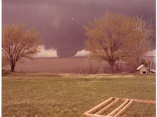 Contributed photo of one of the tornadoes on Terrible Tuesday, April 10, 1979.