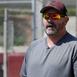 David Wells gestures while being interviewed during practice as coach of the Point Loma High School baseball team March 10, 2015, in San Diego.
