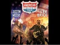 See Justin Moore & Lee Brice in Concert