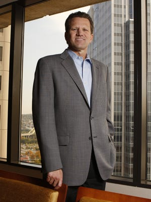 Claude Davis, CEO, First Financial Bancorp, photographed in the company's boardroom.