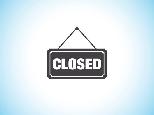 closed restaurant sign vector icon