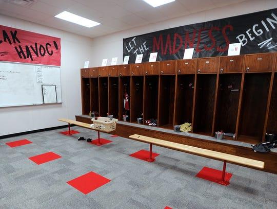 The Colorado High School girls varsity locker room