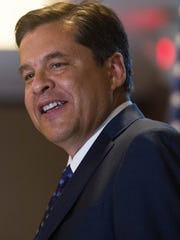Senator Joseph Cervantes, of Las Cruces, announcing he is running for governor of New Mexico , Wednesday, July 5, 2017 at the New Mexico Farm and Ranch Heritage Museum in Las Cruces.