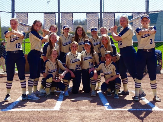 The Lancaster softball team broke the state single-season home run record. The old record was 45 and the Golden Gales hit 62.