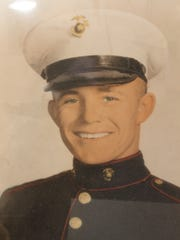 Lester Kyle in 1956 as a new Marine.