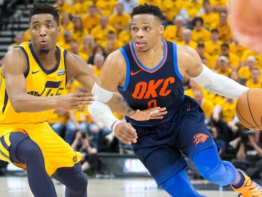 USP NBA: PLAYOFFS-OKLAHOMA CITY THUNDER AT UTAH JA S BKN UTA OKC USA UT