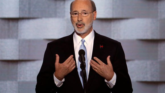 Gov. Tom Wolf, D-Pa., speaks during the final day of