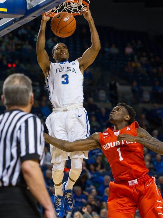 NCAA Basketball: Houston at Tulsa