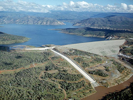 Lake Oroville Reservoir is part of the State Water Project