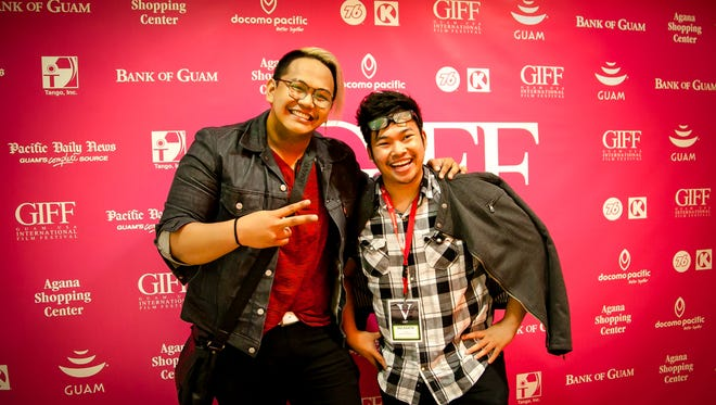 Niel Romero, left, and Justin Baldovino, both filmmakers and directors of Project: Inspire, at the 2015 Guam International Film Festival.