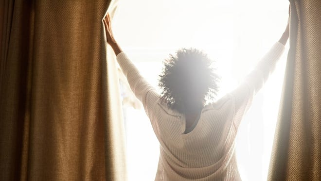 To help you wake up, open your blinds or curtains as soon as you get out of bed.