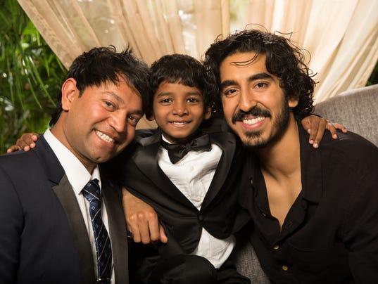 Saroo Brierley, Sunny Pawar och Dev Patel
