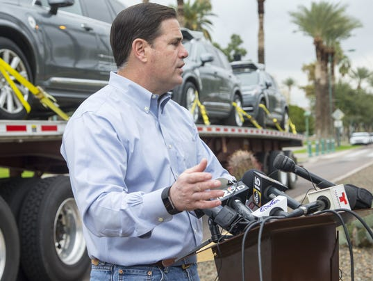 Uber ducey self driving cars