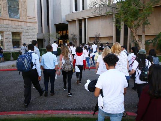 Students protest gun violence