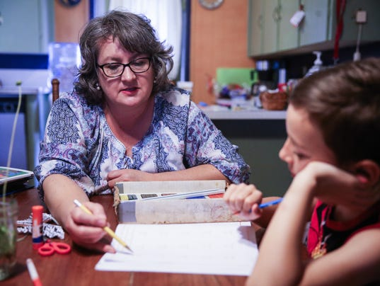 Armstrong family homeschooling