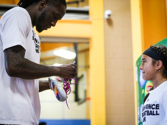 Taurean Prince basketball camp at Lincoln Middle School