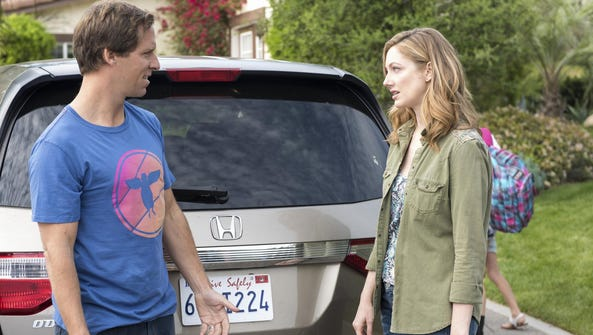 """Nat Faxon as Russ and Judy Greer as Lina in """"Married."""""""