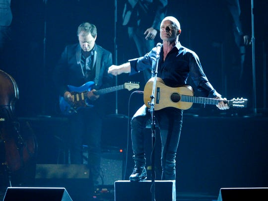 Sting performs on stage   June 8 during the 68th annual Tony Awards at Radio City Music Hall in New York.