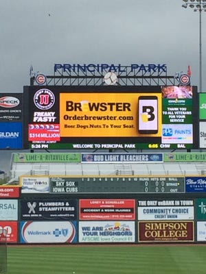 Brewster, an in-seat food and beer delivery service, has been test at Principal Park.