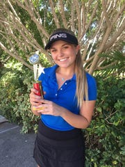 Annabelle Huether, Tucson Salpointe Catholic junior golfer, is the azcentral sports' Arizona Sports Awards High Achiever of the Week for Sept. 29-Oct.6.
