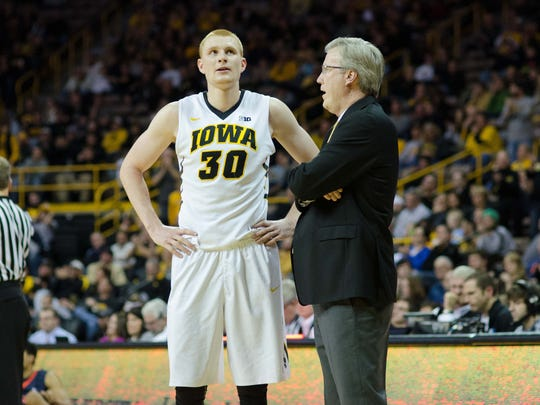 Iowa target Max Murrell says Iowa coaches compare him favorably to recent Hawkeye standout Aaron White, left.