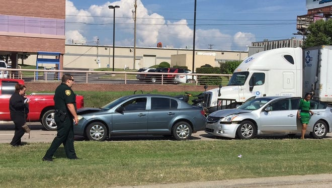 An accident involving several cars on the U.S. 45 Bypass at Old Hickory Boulevard had northbound traffic down to one lane shortly before 5 p.m. Monday.