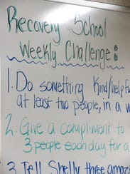 McKinley Area Learning Center Recovery School goals