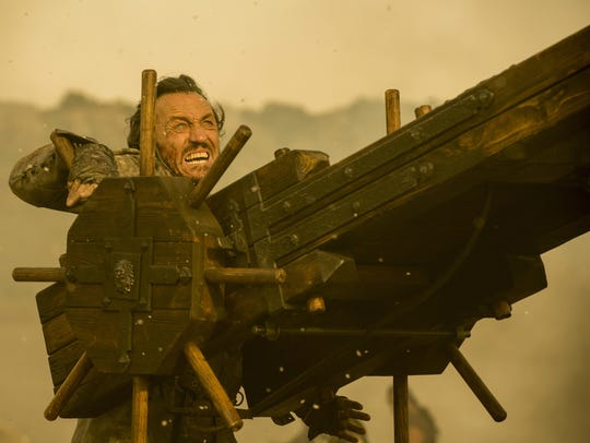 Bronn (Jerome Flynn) hopes the firepower of Qyburn's