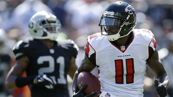 Former Alabama star Julio Jones leads the NFL in catches