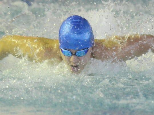 Passaic County Swimming Championship. PCTI 's Brandon