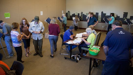 Washington City residents vote at the Washington County