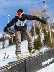 Brian Head Resort Rail Jam, Saturday, Jan. 14, 2017.