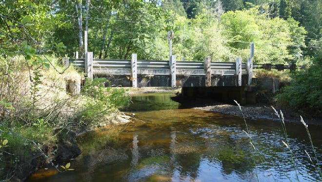 The bridge on Seabeck Holly Road over Anderson Creek.
