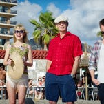 """From left: Toni Collette, Imogen Poots, Pierce Brosnan and Aaron Paul in """"A Long Way Down."""""""