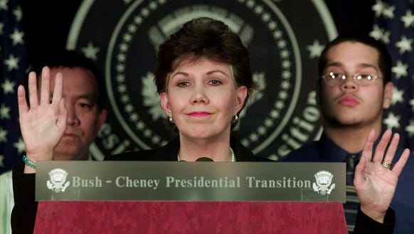 In this January 2001 file photo, Linda Chavez tells