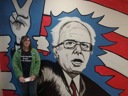 Emma Schmit, a 21-year-old from Rockwell City, Ia., has seen Bernie Sanders in Iowa at least ten times.