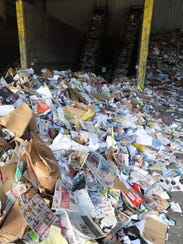 Piles of paper are pictured at the Rockland County