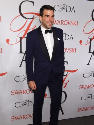 Zachary Quinto poses on the winners walk at the 2015 CFDA Fashion Awards at Alice Tully Hall at Lincoln Center on June 1, 2015 in New York.