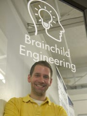 Dan Engerer is owner and director of Brainchild Engineering, located inside the Village Workshop in Northville.
