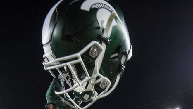 A Michigan State Spartans helmet.